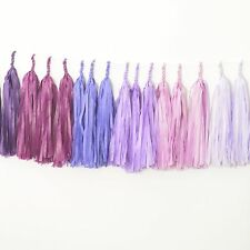 Ombre purple paper tassel garland - fully assembled- party decorations