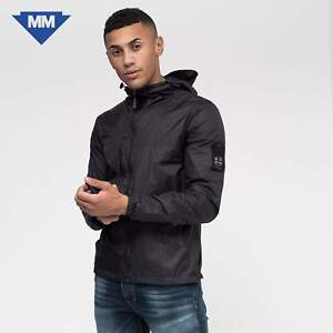 Duck and Cover - Men's Goodman Hooded Jacket Jet Black ⬇️