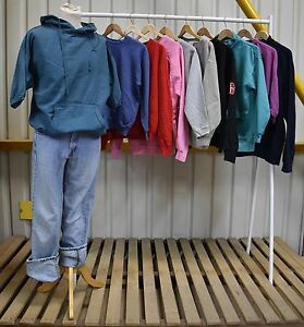 JOB LOT X10 Vintage Block Colours Sweatshirts / Jumpers Mixed Styles (57)