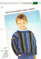 Knitting Pattern de Magazine. Enfant Câble Jersey. Creative tricot enfant 88