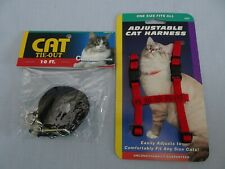NEW Cat Adjustable Harness One size Fits All & 10 Ft Tie-Out - 2 new pieces