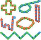 6PCS Wacky Tracks Snake Fidget Toy Anxiety Stress Relief ADHD Fidget Kids Gift