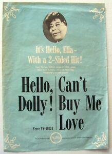 ELLA FITZGERALD 1964 vintage POSTER ADVERT CAN'T BUY ME LOVE the beatles