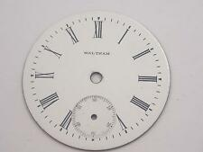 Mens Vintage Watch Dial for Pocket Watches White 44.82mm Waltham Roman Nmrl Mrkr