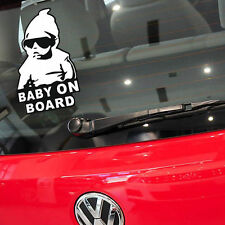 Funny Baby on Board Vinyl Car Sticker With Sunglasses Decal Sign Window 1pcs Hot