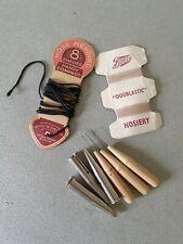 Vintage Hoisery Mending Hook Tools And Elastic
