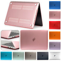 "For Apple MacBook Air Pro Retina 13"" 15"" Luxury Rubberized Clear Hard Case Cover"