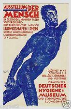 POSTCARD GERMAN AUSSTELLUNG DER MENSCH  EXHIBITION OF MAN SIGNED WUNSCHE 1926