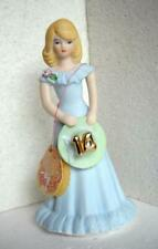 Enesco Growing Up Birthday Girls Age 14 Lt Blue Dress Blonde Hair 1981 (g)