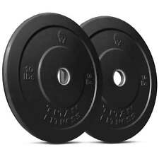 Titan Pair 10 lb Olympic Bumper Plate Black Benchpress Strength - USED