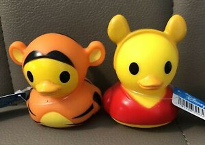 Disney Duckz Target Exclusive Tigger & Winnie The Pooh Rubber Duck Bath Ducky
