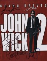 """JOHN WICK Chapter 2 Cast(x6) Authentic Hand-Signed """"Keanu Reeves"""" 11x14 Photo"""