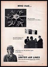 1965 United Air Lines Airline Pretty Girls Customer Service B&W Vintage Print Ad