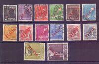 Berlin 1949 - Rotaufdruck - MiNr. 21/34 gest. tw. geprüft- Michel 900,00 € (559)
