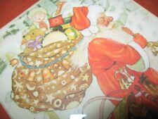 "Vintage ""Christmas Santa Claus"" Framed Greeting Card"