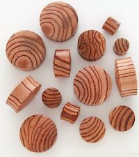 "1 Pair 5/8"" 16mm Exotic Zebra Organic Natural Wood Saddle Ear Plugs Gauges 520"