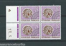 PRÉOBLITÉRÉS - 1971 YT 130 bloc de 4 - TIMBRES NEUFS** LUXE