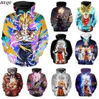 Dragon Ball Z Super Saiyan Goku Men Women Anime Pullover Hoodie Sweatshirt Tops