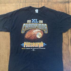 2006 NFL Pittsburgh Steelers Championship Super Bowl Jerome Bettis TShirt XL