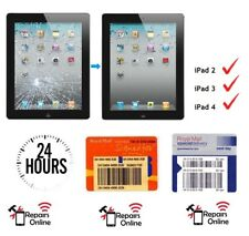 *FAST* iPad 2 3 4 Front Cracked Glass Touch Screen Digitizer Repair Service