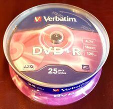 25 Verbatim Rohlinge DVD+R 4,7GB 16x Spindel