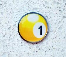 anneys - golf ball marker -  ** yellow ball #1 ** .