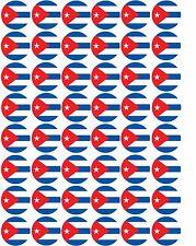 48 X banderas de Cuba/cubano pre corte Cupcake Toppers Premium Azúcar Glaseado Hoja