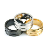 Simple Men Women Stainless Steel Titanium Band Ring Wedding Engagement Size 6-12
