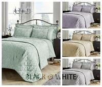 Savoy Jacquard Luxury Duvet Quilt Cover Set Double King Super King Size Bedding