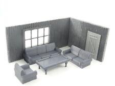Billiard Room Diorama Model in Scale 1:43 Unpainted NEW