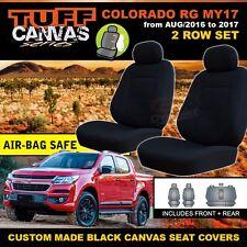 BLACK TUFF CANVAS RG COLORADO MY17 CREW Cab Seat Covers 2ROW 9/2016-18 LS LT LTZ