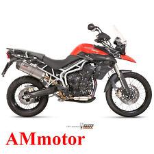 Mivv Triumph Tiger 800 2013 13 Terminale Di Scarico Oval Titanio Carbon Cap Moto
