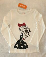 NWT Gymboree Flight Of Fancy Girl With Curly Hair Red Bow T-Shirt Size 5