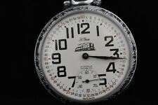 a modern train on the front Vintage Swiss 17jewel Pocket Watch with