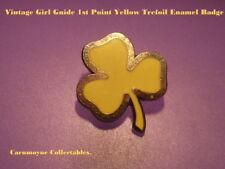 Vintage Girl Guide 1st Point Yellow Trefoil Enamel Badge.AH0470.