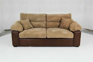 2 SEATER SOFA AMEBA RINHO BROWN/JUMBO MOCHA HIGH QUALITY BRAND NEW FREE DELIVERY
