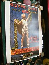 Affiche Jeux Olympiques Los Angeles 1932 Edition CIO 1987 50 sur 70 cm
