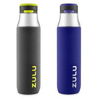 Zulu 32 oz. Studio Tritan Water Bottle, 2-Pack (Gray/Blue)