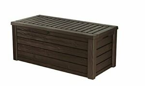 New Keter Westwood 570L Outdoor Garden Storage Box-Brown