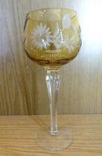 Römer Weinglas Bleikristall Überfang Bernstein Blumen Stern