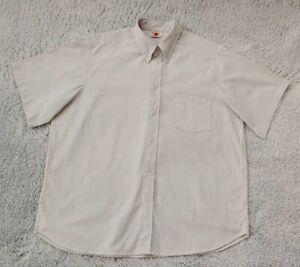 Men's Big SZ 3XL Sweet Apple Gray Work Uniform Short Sleeve Button Up Shirt NWOT