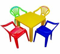 Children Table and Chairs set Plastic Furniture Study Table chair Playroom