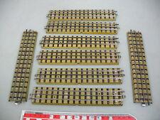 AI162-1# 8 x Märklin H0/00 Pezzo pista (m pista, dritto) (f). 3600/800 Vorkrieg