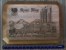 Olympic Games Seoul Korea 1988. year plaque table medal Olympic village