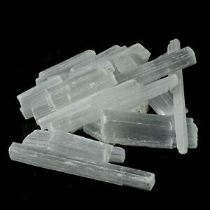 Selenite Crystal Wand Stick Wand Natural Rough Raw Mineral Unpolished x 5 Pieces