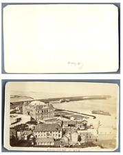 France, Boulogne-sur-Mer Panorama  CDV vintage albumen carte de visite,  Tirag