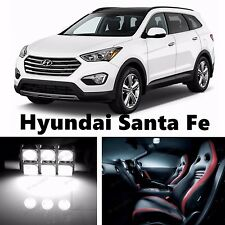 10pcs LED Xenon White Light Interior Package Kit for Hyundai Santa Fe 2013-2016