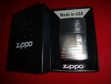Year 2020 Brushed Chrome Zippo Lighter With ROLEX Watch Logo + Box *Never Used*