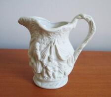 "Portmeirion Parian Ware Jug British Heritage Collection Bisque White Peasants 4"""