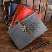 Loose Vintage Blank Paper Notepad Faux Leather Journal Diary Sketchbook Notebook